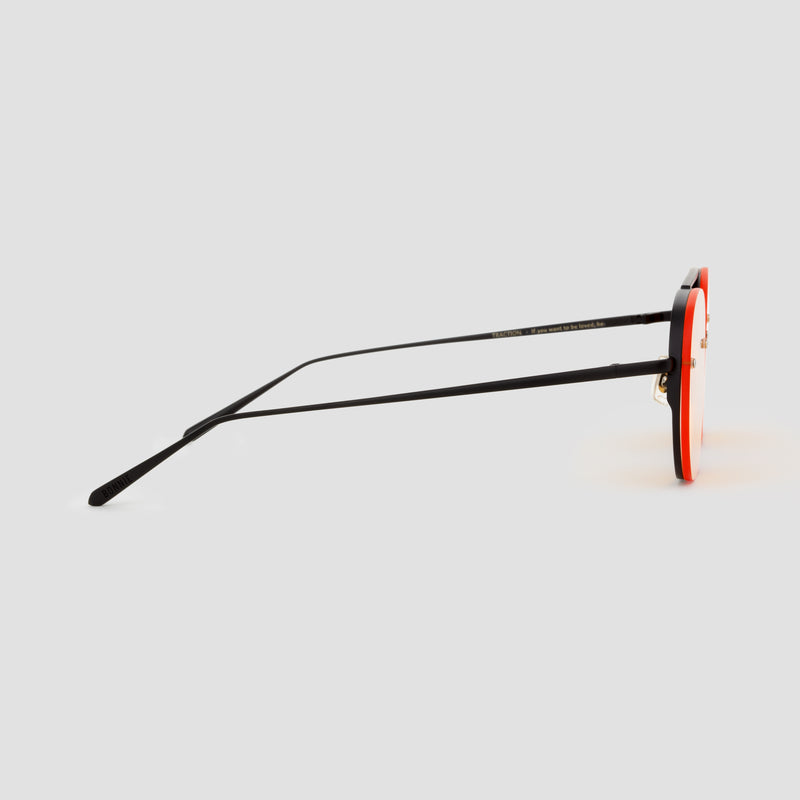 Side View of Traction Black-Orange Sunglasses