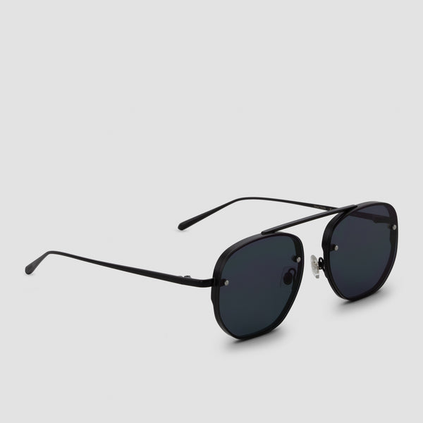 Quarter View of Traction Bushido Black Sunglasses