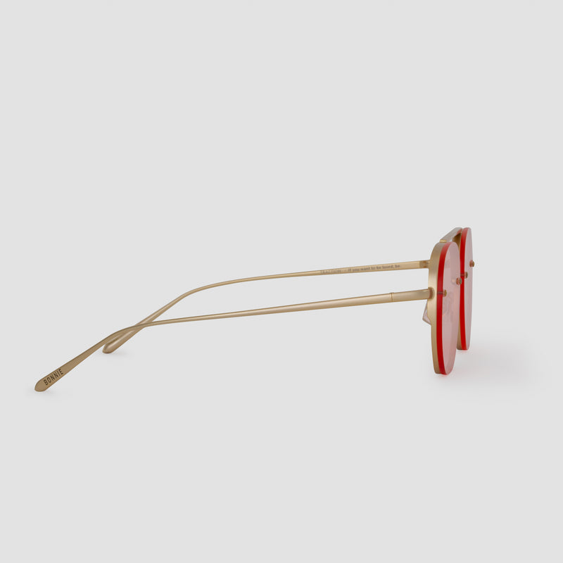 Side View of Traction Red Witness Sunglasses