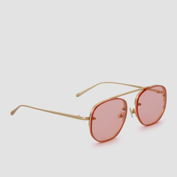 Quarter View of Traction Red Witness Sunglasses