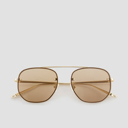 Front View of Traction Japanese Gold-Almond Sunglasses