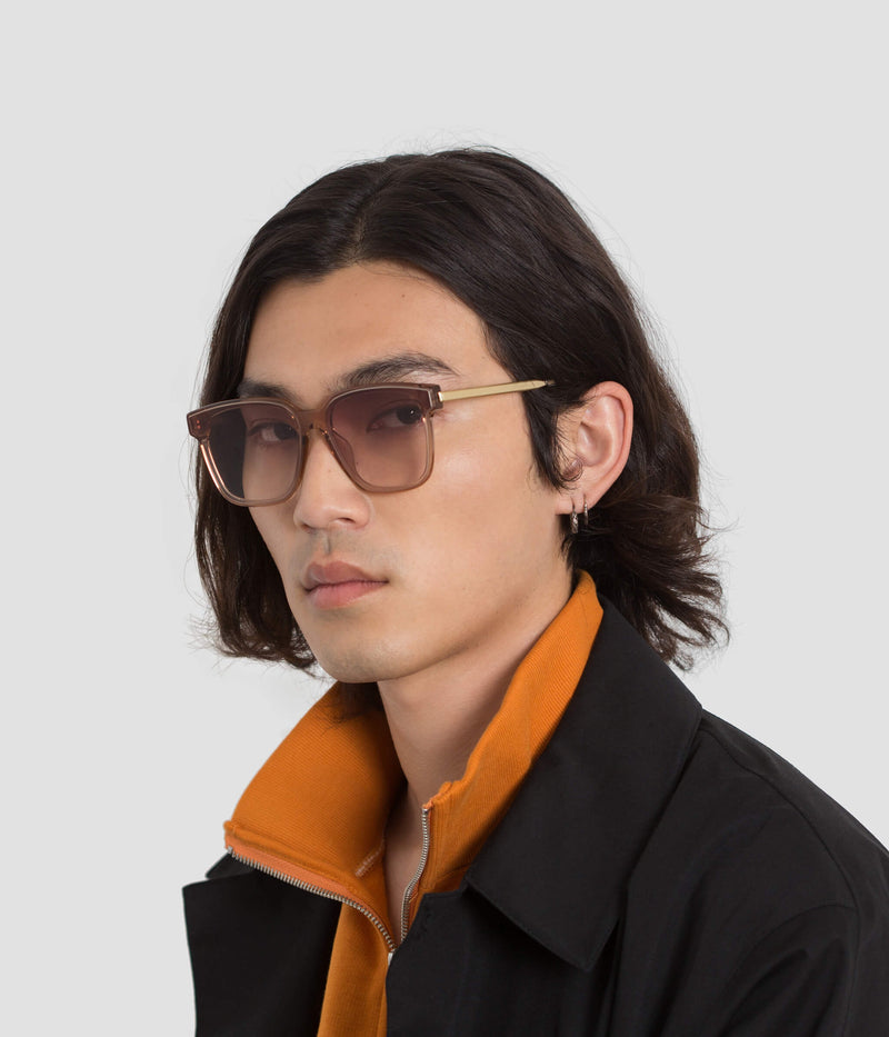 Male Model wearing Wall Almond Sunglasses