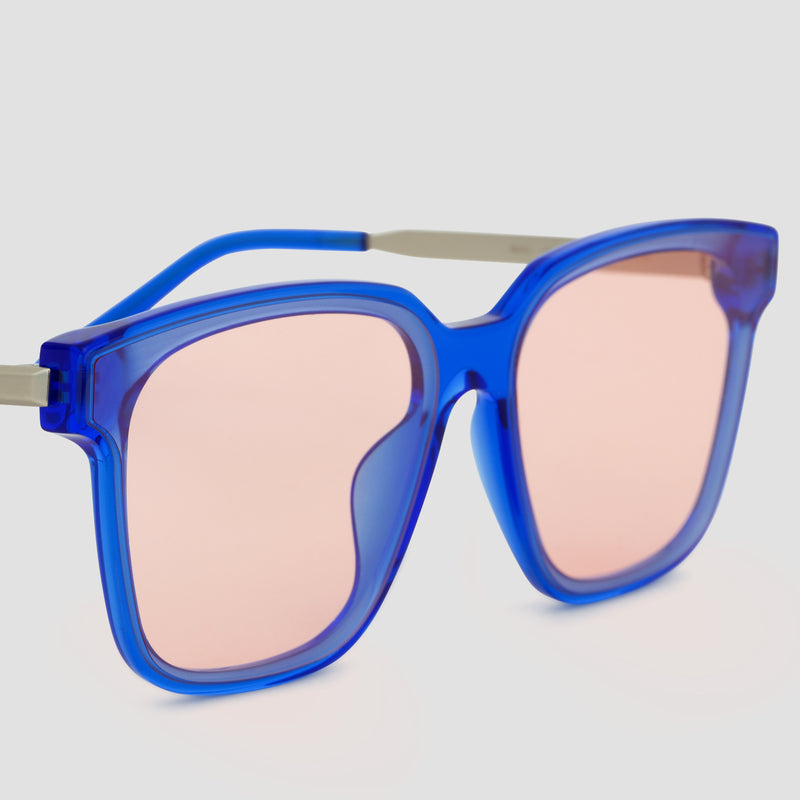 Detail shot of Wall Blue-Orange Sunglasses