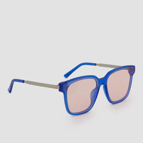 Quarter View of Wall Blue-Orange Sunglasses