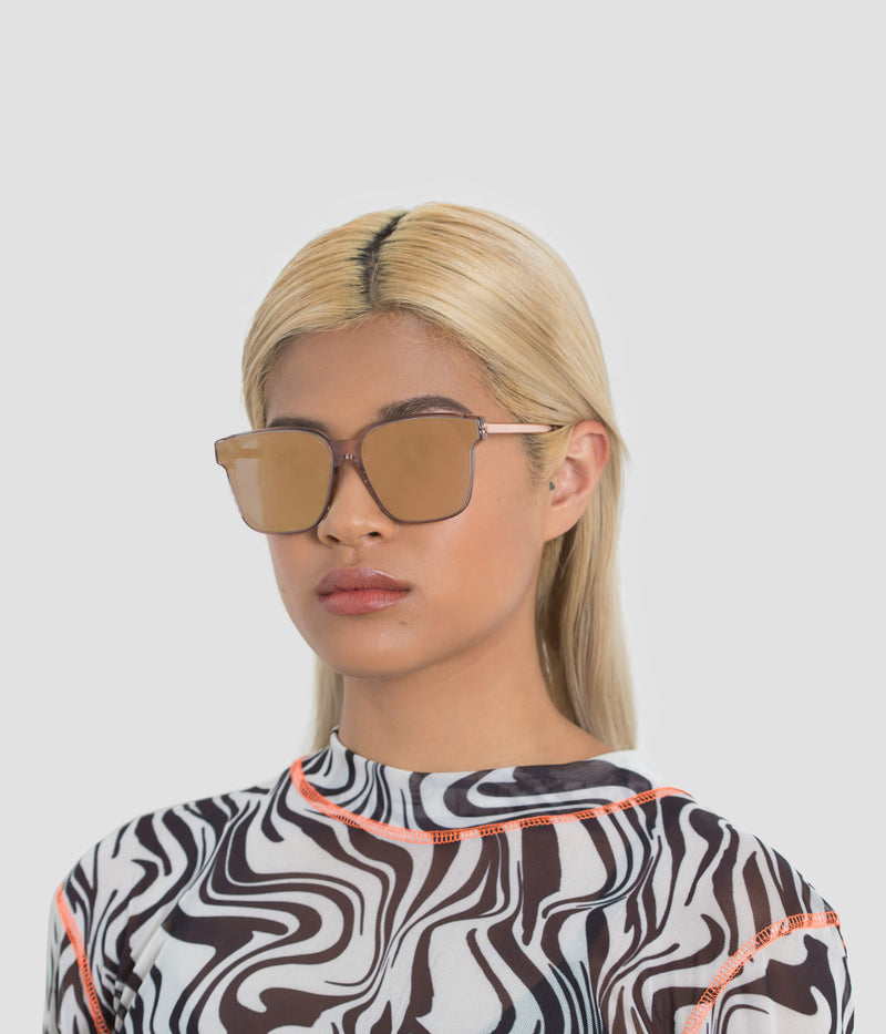 Female Model wearing Wall Flamingo Fever (Mirror) Sunglasses