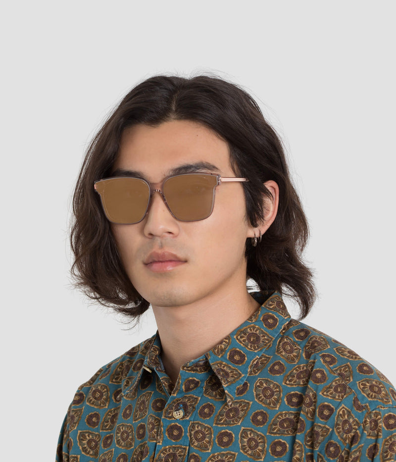 Male Model wearing Wall Flamingo Fever (Mirror) Sunglasses