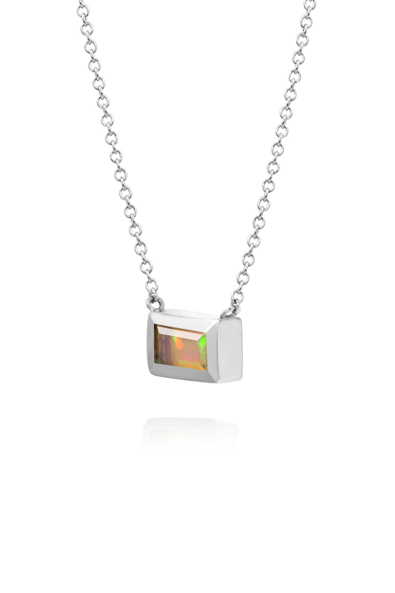 link meyer fixed jennifer products chain diamond rectangle necklace