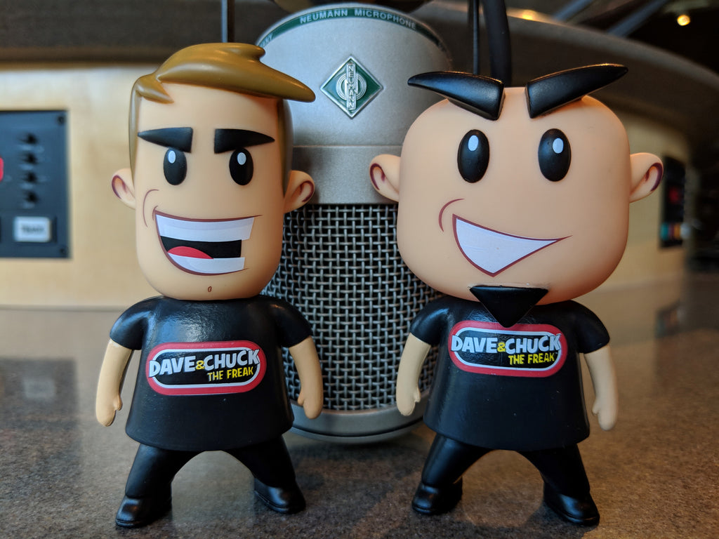 "WRIF Dave & Chuck ""the Freak"" Vinyl Toy"