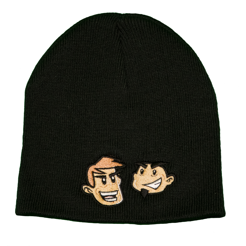 Dave & Chuck Cartoon Heads Beanie