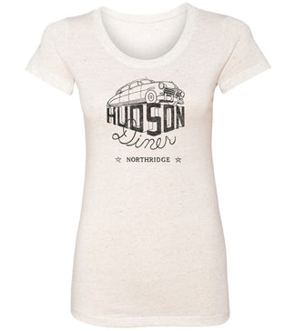 Hudson Diner Northridge California | Women's Fitted Tee By RoAcH T-shirts