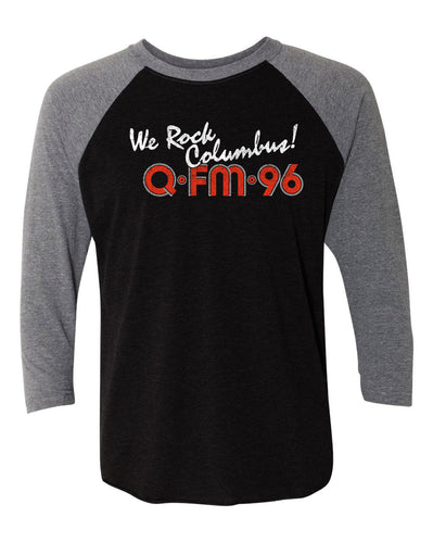 QFM96 We Rock Columbus Baseball T-shirt