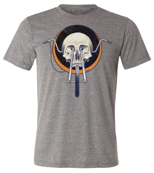 Skull Chopper - Biker Art | Short Sleeve Tee By RoAcH T-shirts