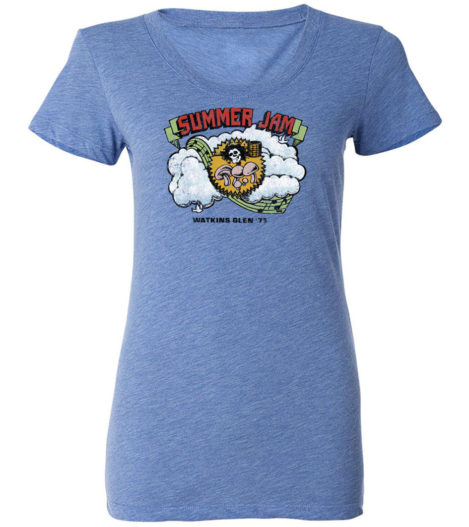 Summer Jam Watkins Glenn, NY | Women's Fitted Tee By RoAcH T-shirts