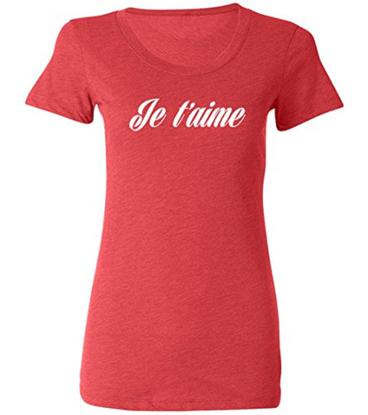Ladies Fitted Tee | Je t'aime T-shirt