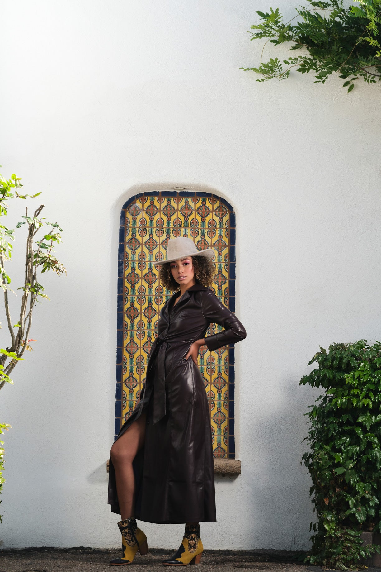 Nanushka Faux Leather Dress
