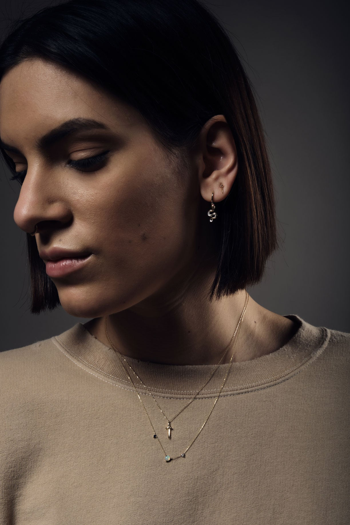 pamela love's dagger pendant necklace