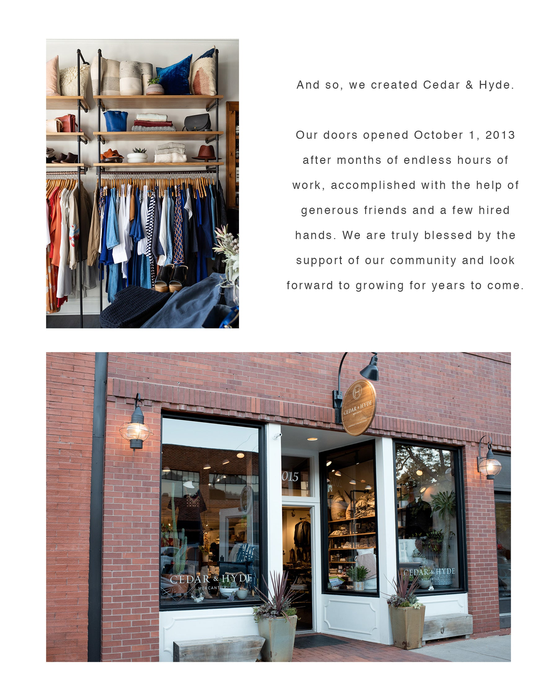 CEDAR AND HYDE MERCANTILE