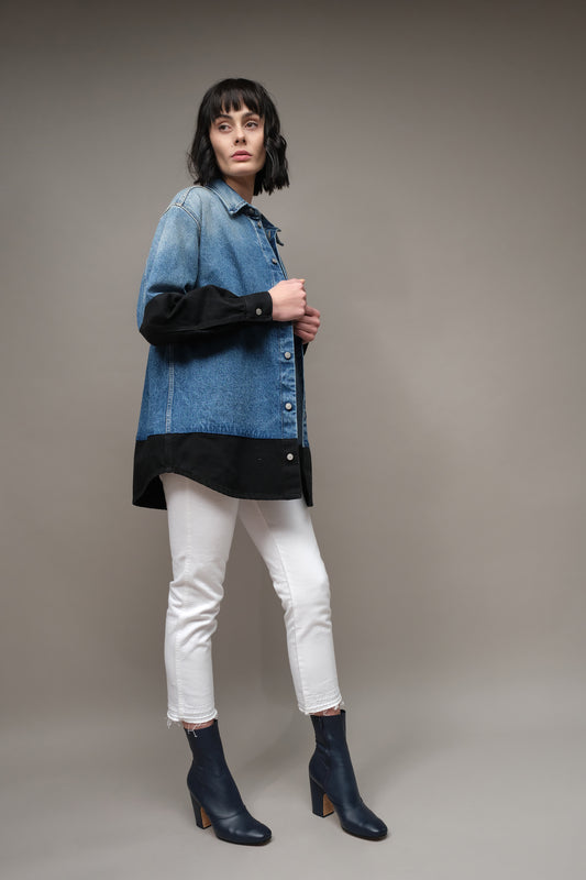MM6 Denim Splice Jacket