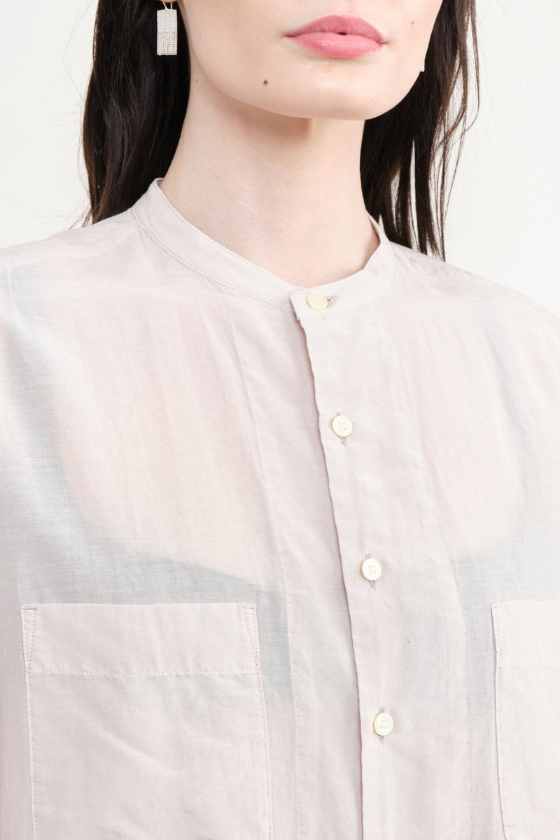 pas de calais Silk Button Down Blouse Sheer