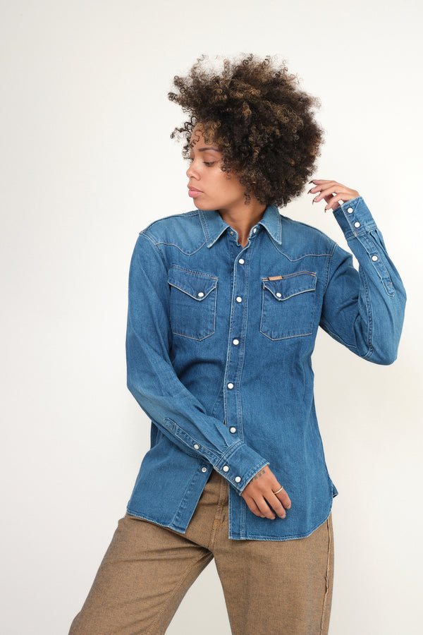 8oz Denim Western Shirt kapital