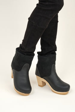 "5"" Pull on Shearling Clog Boot on High Heel no. 6"