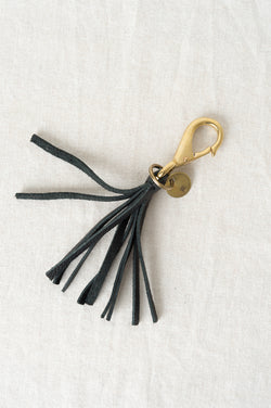Leather tassel keychain GREI