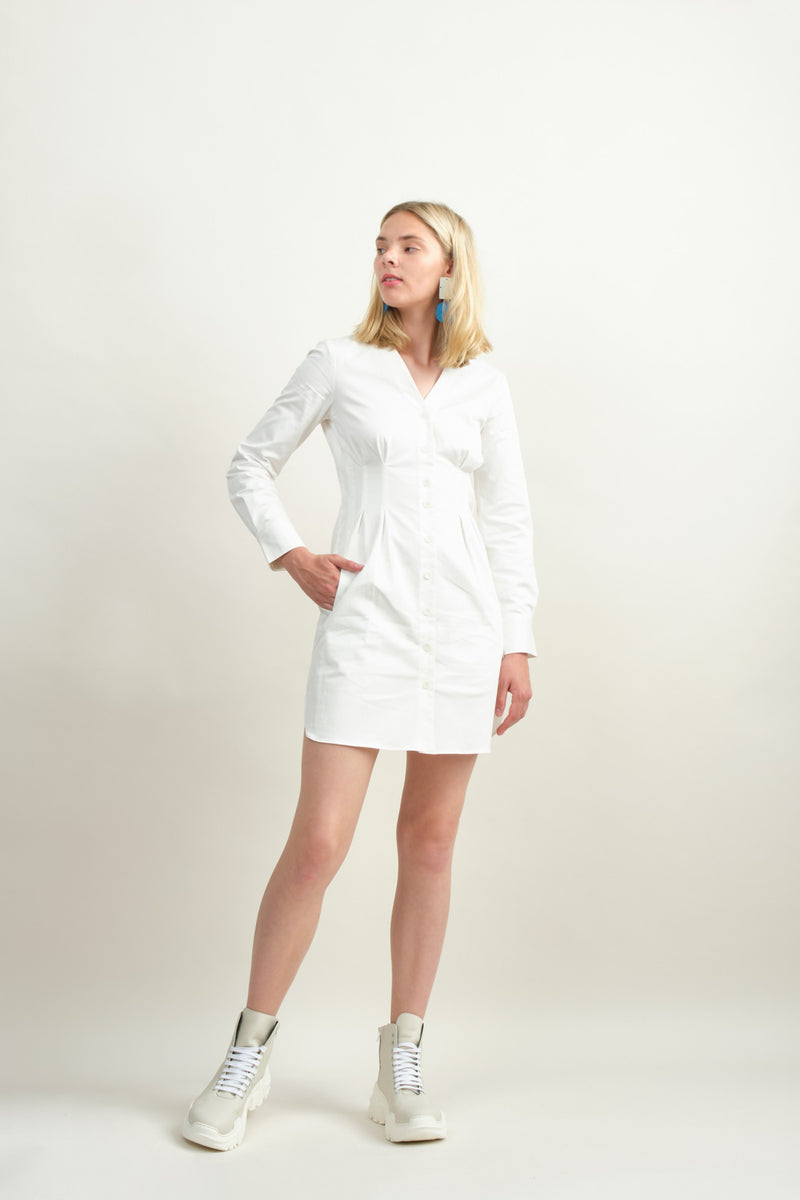 Tibi Dominic Twill Shirtdress