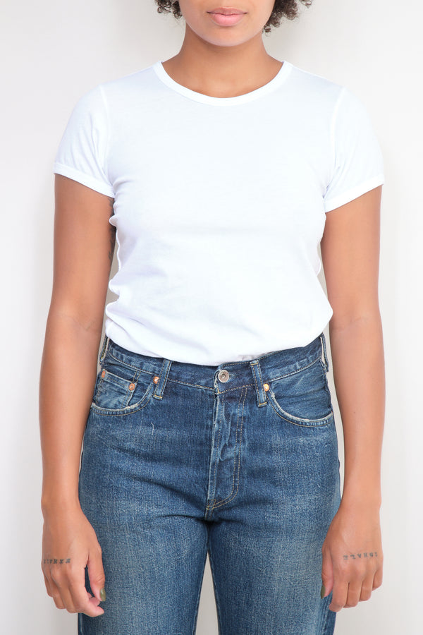 amo denim fitted white tee