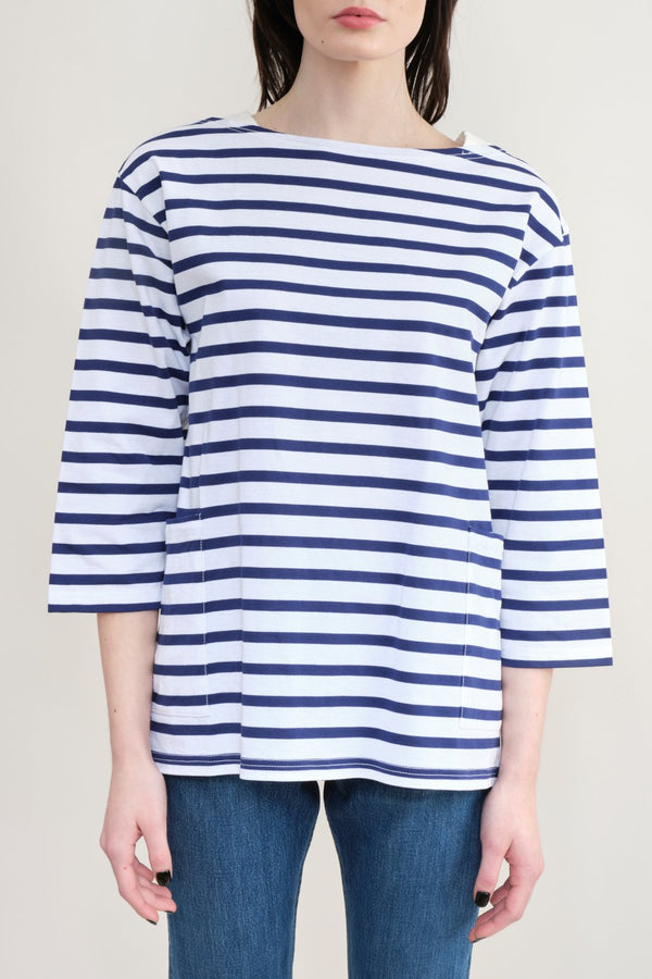 Sage De Cret Striped Boatneck T-Shirt