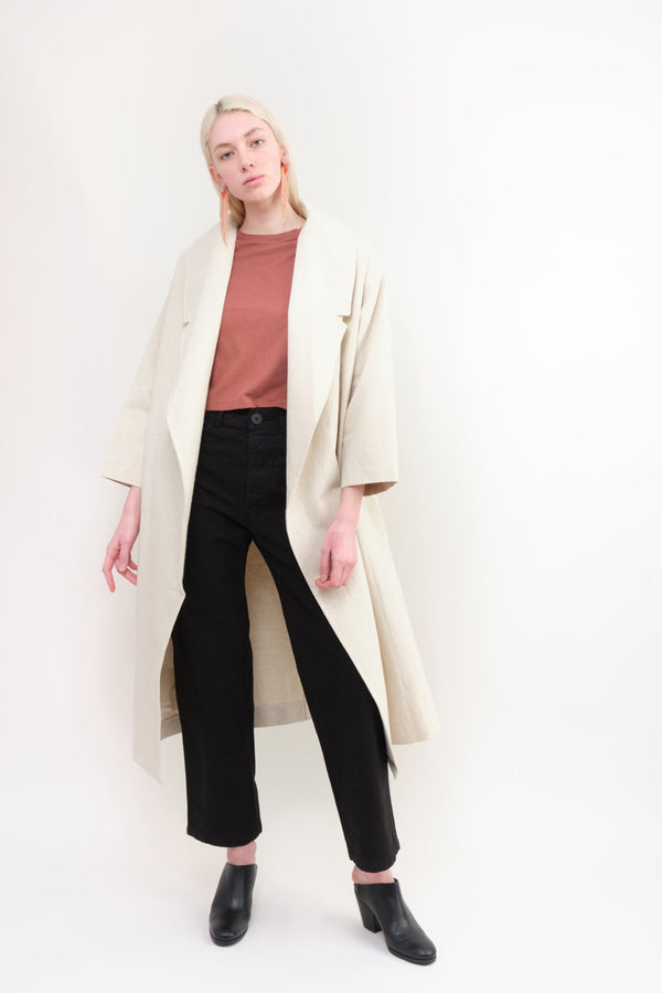 7115 by Szeki Spring Lapel Overcoat