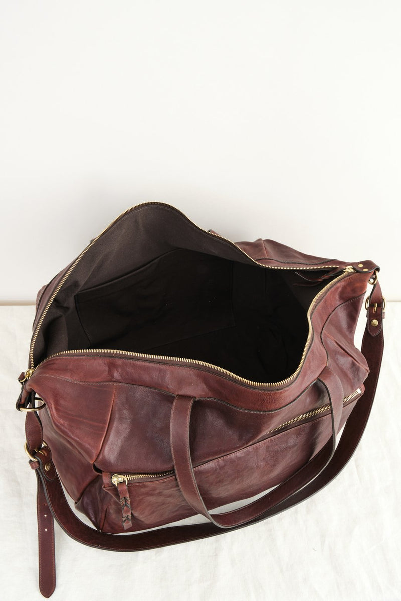 Il Bisonte Weekender Bag Brown Leather