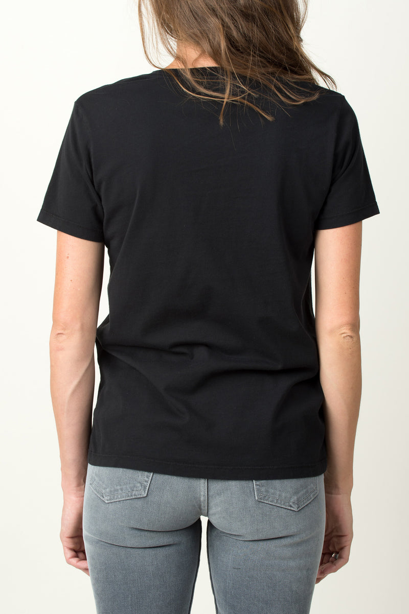 Women's Black V Neck