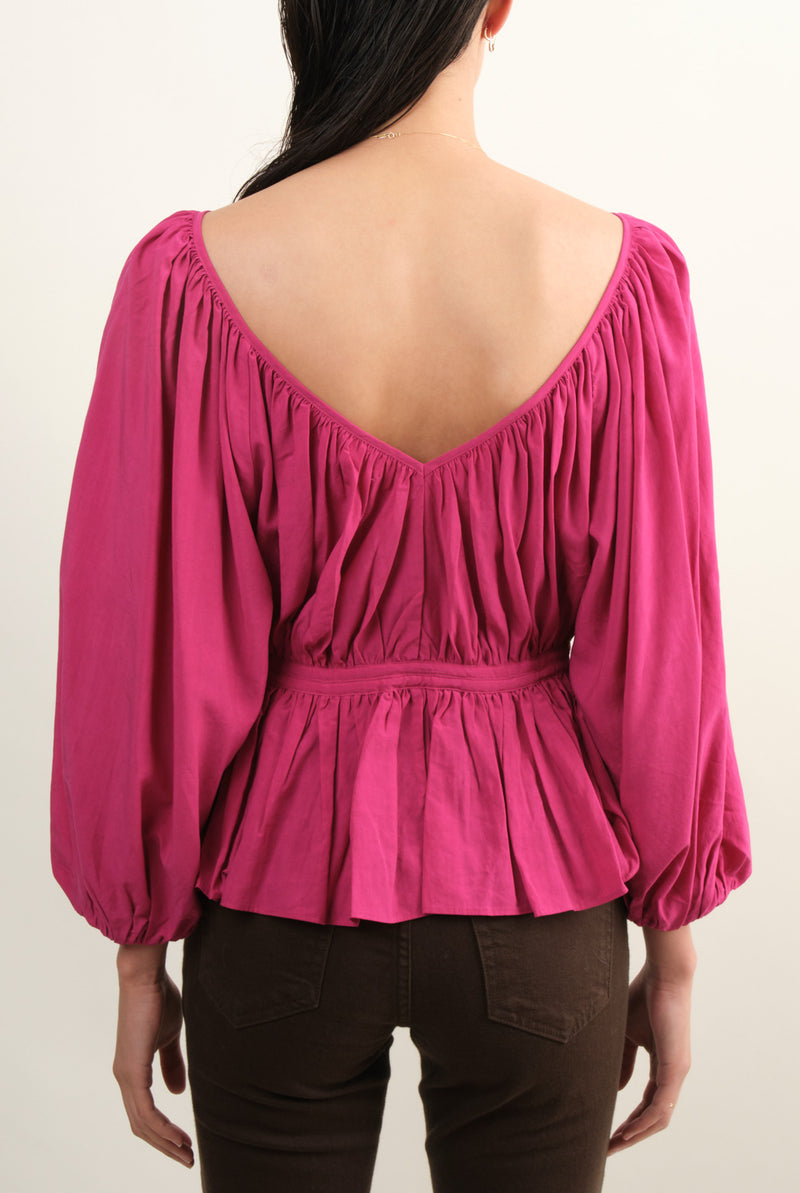 Women's Pleated Blouse