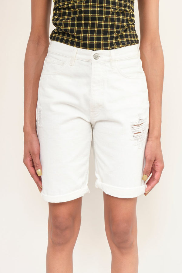 MIH Jeans Caro Short Off White