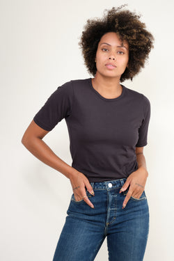 Amo Denim slim tee in black