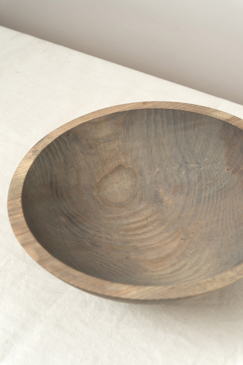 Farmhouse Pottery Craft Wooden Bowl Grey Ash