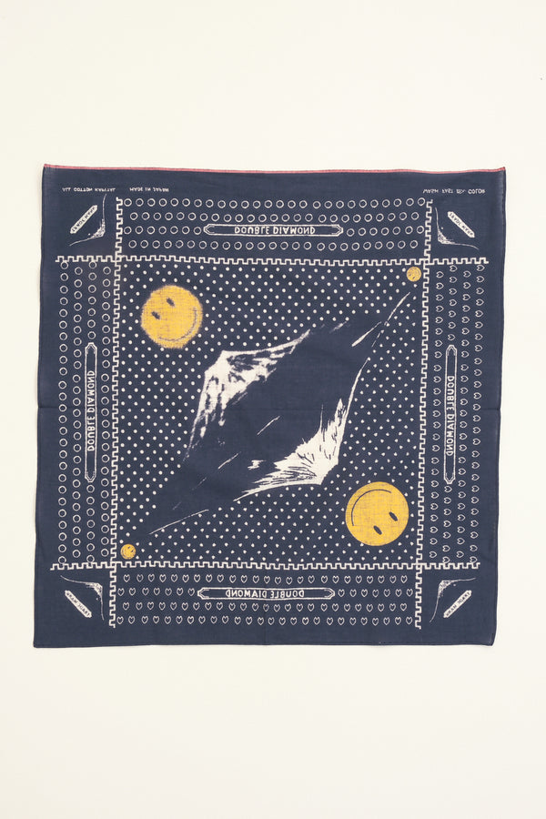 kapital Fastcolor Selvedge Bandana (Mirrored FUJI Smile)