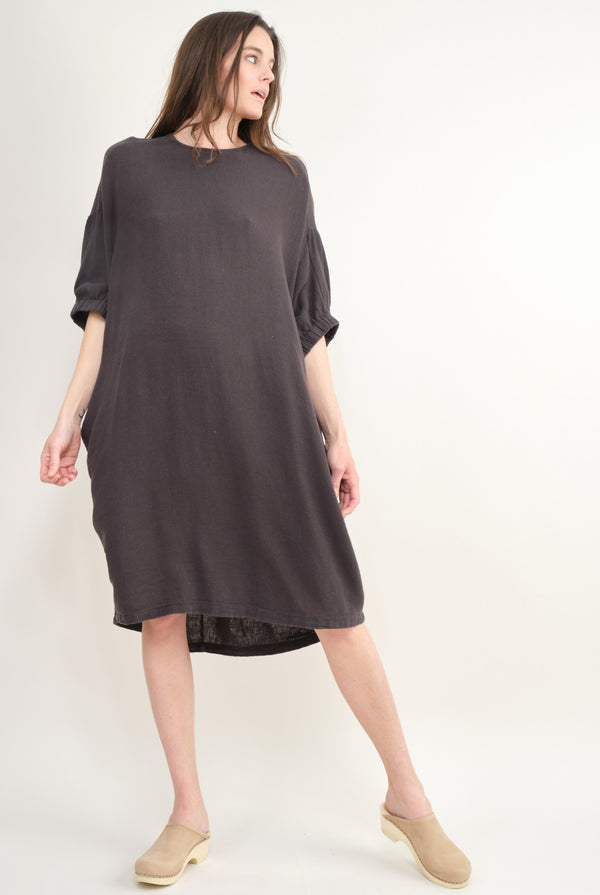 Black Crane Xiao Dress In Black