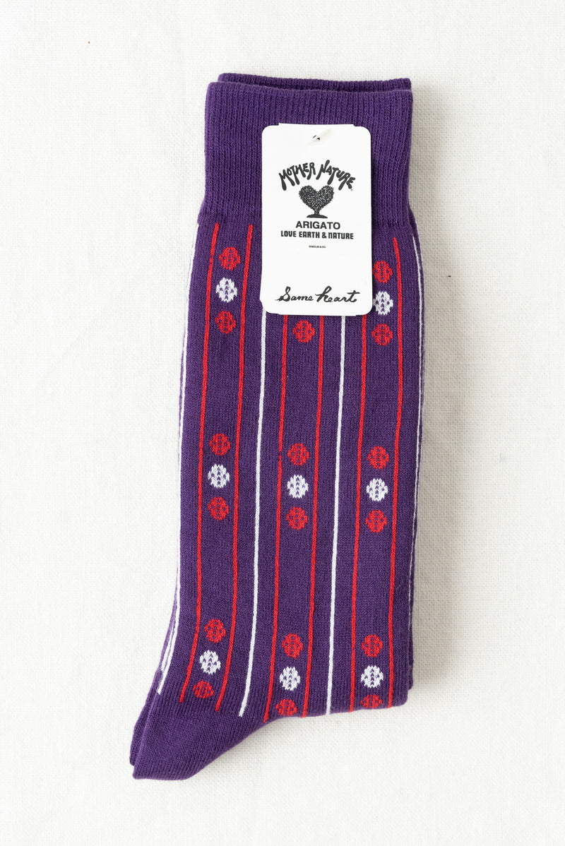 Unisex Purple Socks
