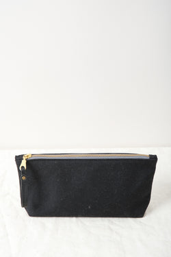 Winter Session Waxed Canvas Zip Bag Black