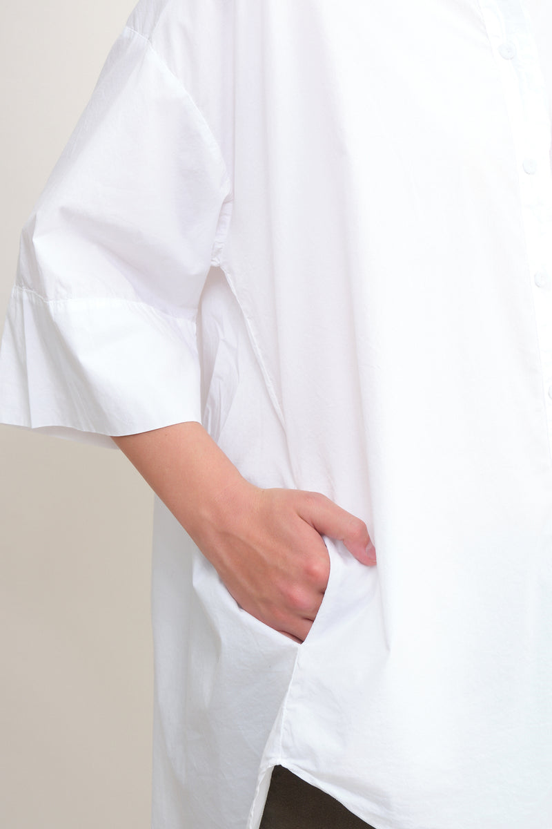 oversized white button up Kristensen du Nord