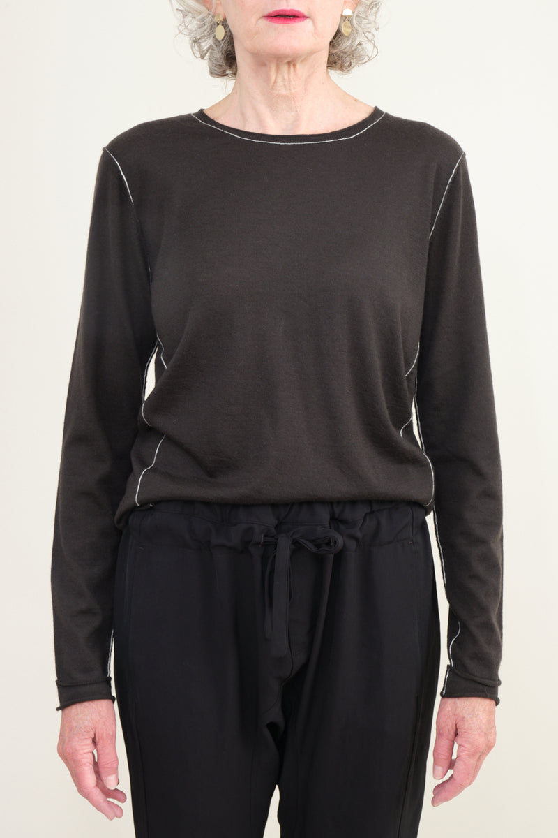 worsted cashmere long sleeve tee Paychi Guh