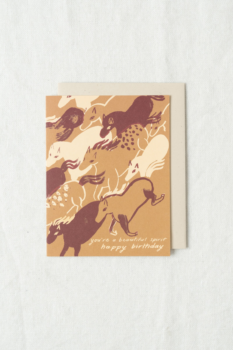 Small Adventure Horse Spirit Birthday Card
