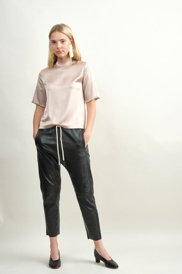 Bassike Relaxed Leather Pant II