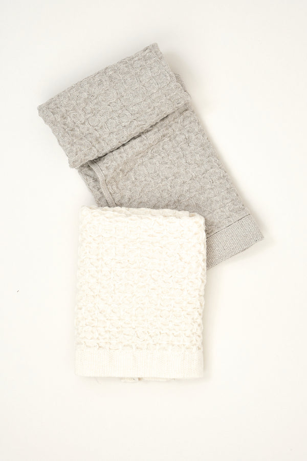 kontex lattice cotton/linen washcloth
