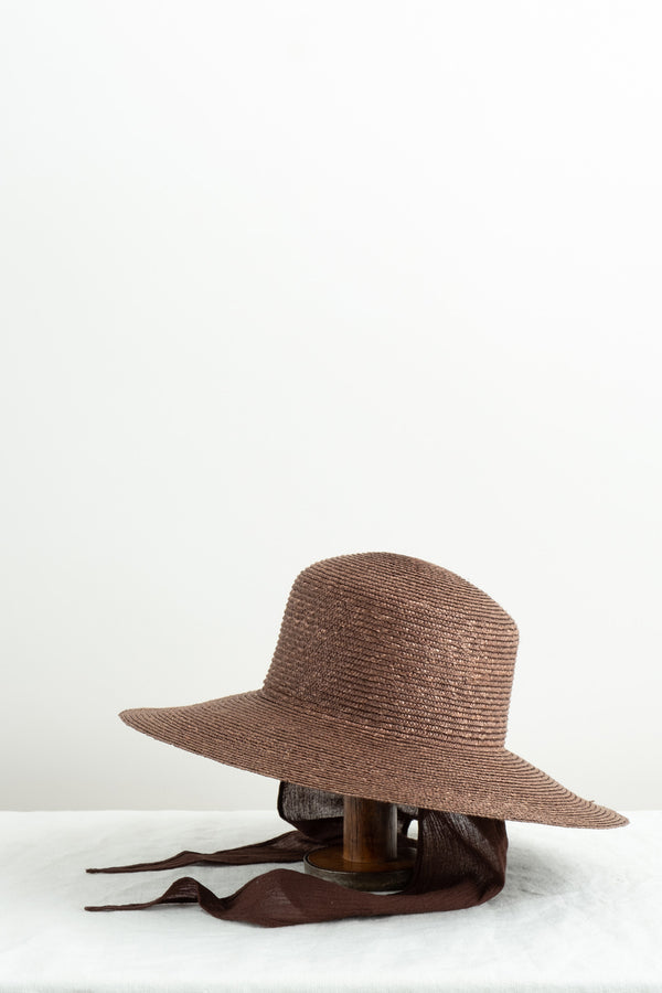 Clyde Medium Brim Flat Top Hat