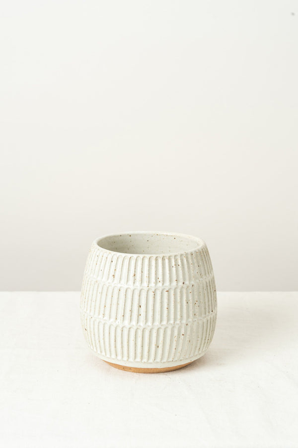 Mt. Washington Pottery Small Planter In Speckled White