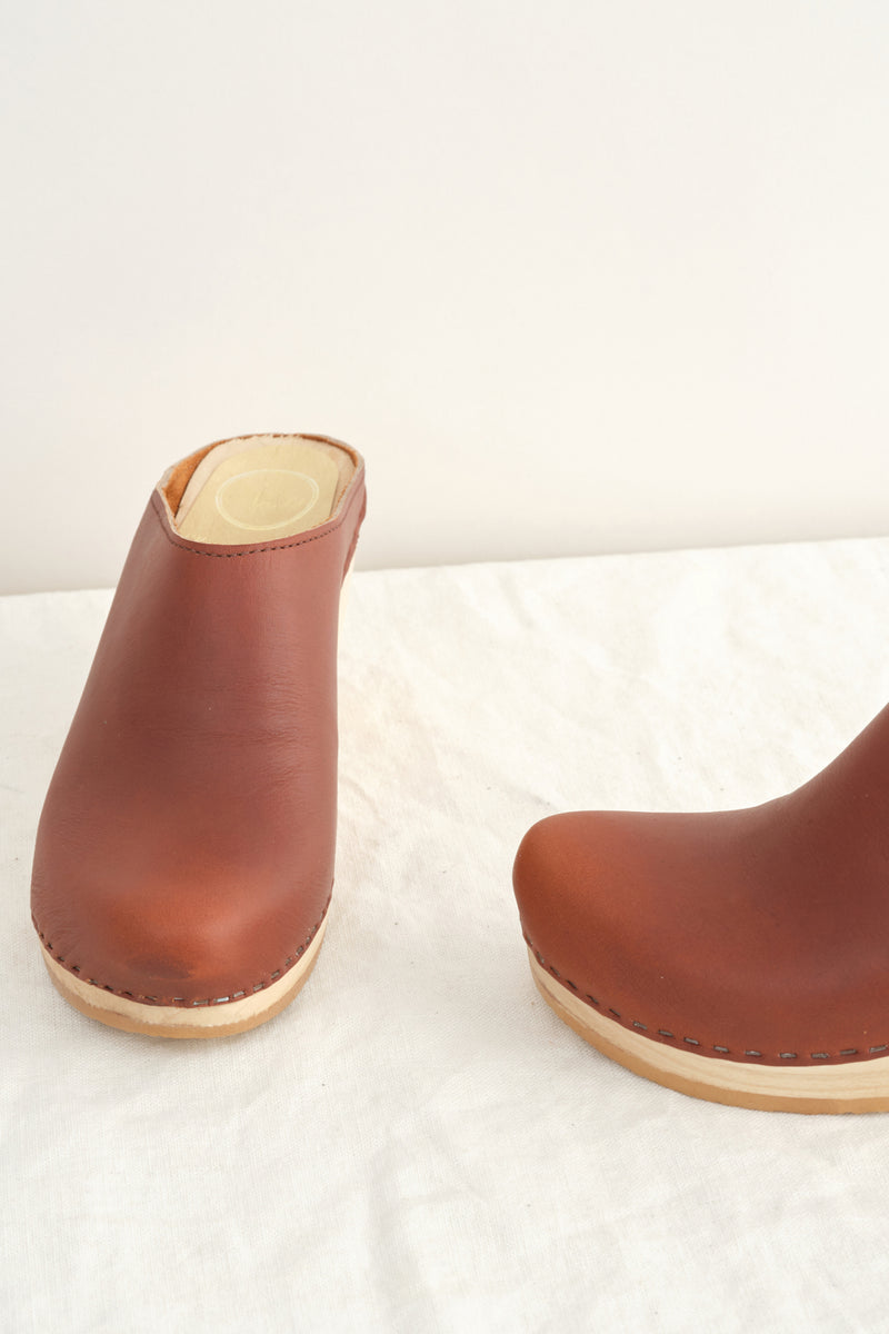 No. 6 New School Clog on Mid Wedge