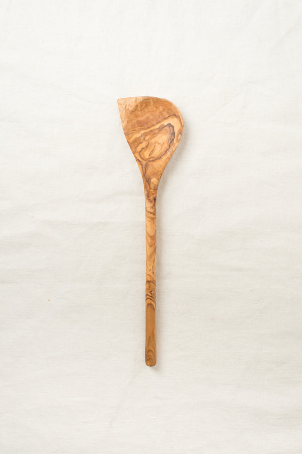Saarde Olive Wood Corner Spoon