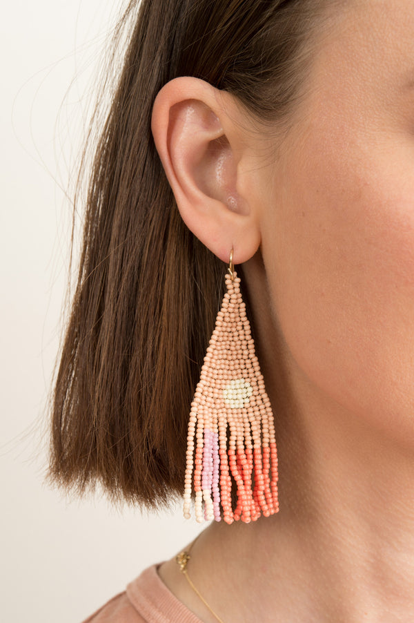 Salihah Moore Marmalade Hand Beaded Earrings